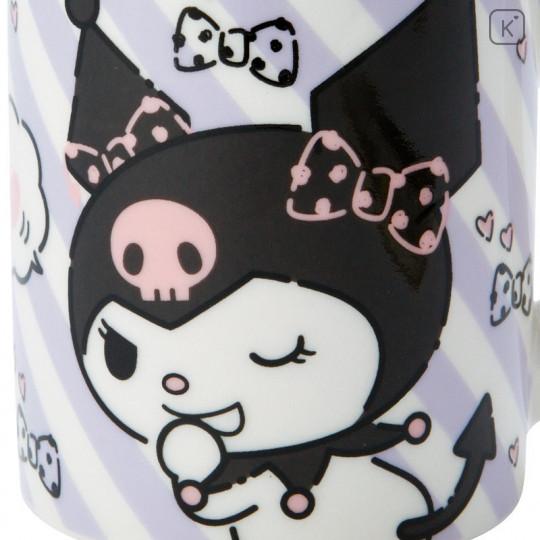 Japan Sanrio Pottery Mug - Kuromi - 5
