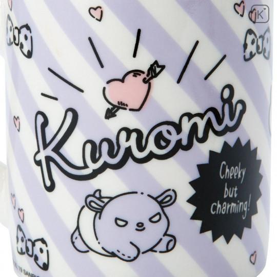 Japan Sanrio Pottery Mug - Kuromi - 6