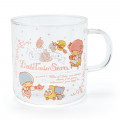 Japan Sanrio Glasses Mug - Little Twin Stars - 1