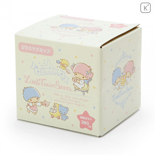Japan Sanrio Glasses Mug - Little Twin Stars - 3