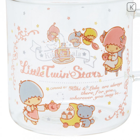 Japan Sanrio Glasses Mug - Little Twin Stars - 4
