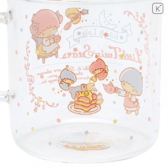 Japan Sanrio Glasses Mug - Little Twin Stars - 5