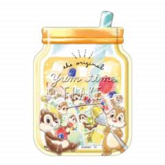 Japan Disney Masking Seal Flake Sticker - Chip & Dale Yummy Time