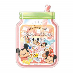 Japan Disney Masking Seal Flake Sticker - Tsum Tsum Yummy Time