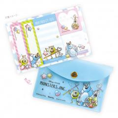Japan Disney Monster Company Sticky Notes & Folder Set