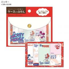 Japan Disney Mickey Mouse Sticky Memo & Folder Set
