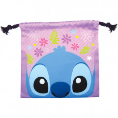 Japan Disney Drawstring Bag - Stitch Faces
