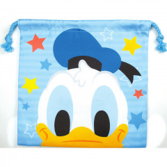 Japan Disney Drawstring Bag - Donald Duck Faces