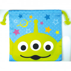 Japan Disney Drawstring Bag - Toy Story Little Green Men Faces
