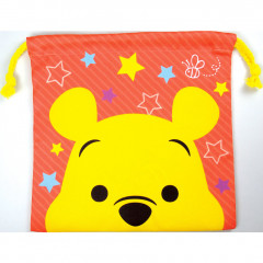 Japan Disney Drawstring Bag - Winnie The Pooh Faces