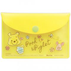 Japan Disney Store Winnie the Pooh & Piglet Sticky Notes & Folder Set