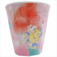Japan Disney Princess Acrylic Cup - Little Mermaid Ariel & Flounder