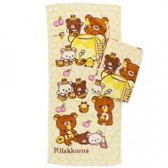 Japan San-X Rilakkuma Fluffy Towel - Honey 2 PCS
