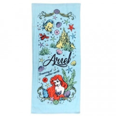 Japan Disney Fluffy Towel - Little Mermaid Ariel Blue