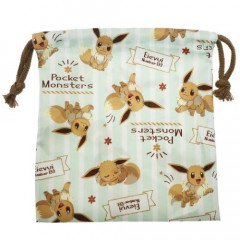 Japan Pokemon Drawstring Bag - Eevee