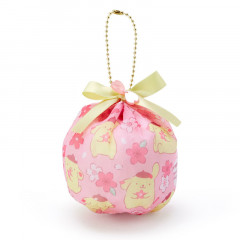 Japan Sanrio Mini Pouch with Ball Chain - Pompompurin & Sakura