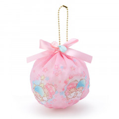 Japan Sanrio Mini Pouch with Ball Chain - Little Twin Stars & Sakura