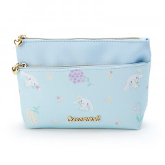 Japan Sanrio Cosmetic Makeup Pouch - Cinnamoroll Flower