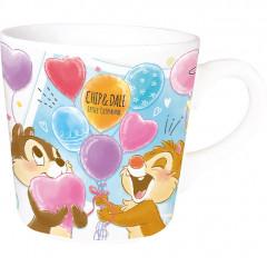 Japan Disney Ceramic Mug - Chip & Dale Balloon Party