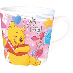 Japan Disney Ceramic Mug - Winnie the Pooh & Piglet Candy Party