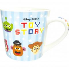 Japan Disney Ceramic Mug - Toy Story Characters Light Blue
