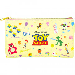 Japan Disney Pouch Makeup Bag Pencil Case - Toy Story Characters Yellow