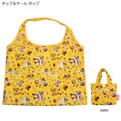 Japan Disney Eco Shopping Bag - Chip n Dale Deep Yellow