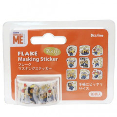Japan Despicable Me Flake Masking Sticker Roll - Minions with Gold Foil