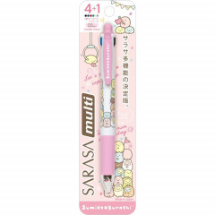San-X Japan Sarasa Clip 4+1 Multi Pen & Pencil - Sumikko Gurashi Pink