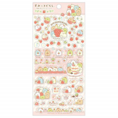 Japan San-X Sumikko Gurashi Seal Sticker - Strawberry