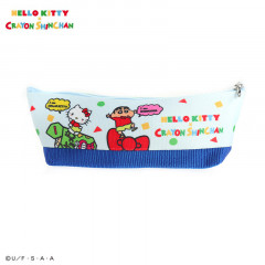 Japan Sanrio Pouch - Hello Kitty × Crayon Shinchan