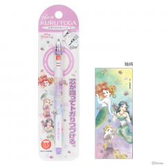 Japan Disney × Uni Kuru Toga Auto Lead Rotation 0.5mm Mechanical Pencil - Princess Ariel Rapunzel Jasmine