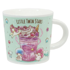 Japan Sanrio Pottery Mug - Little Twin Stars Blue Green