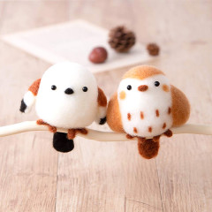 Japan Hamanaka Aclaine Needle Felting Kit - Sparrow