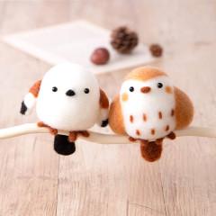 Japan Hamanaka Wool Needle Felting Kit - Sparrow