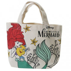 Japan Disney Cotton Tote Bag - Little Mermaid Ariel