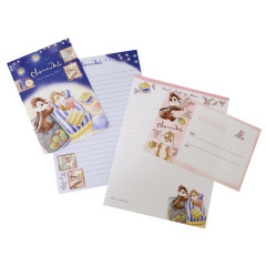 Japan Disney Letter Envelope Set - Chip & Dale Good Night