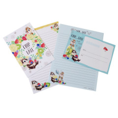 Japan Disney Letter Envelope Set - Chip & Dale Juice