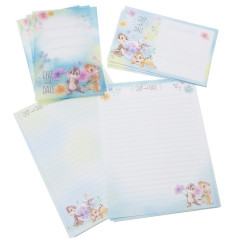 Japan Disney Letter Envelope Set - Chip & Dale Flora