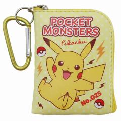 Japan Pokemon Mini Pouch Key Bag with Hook - Pikachu