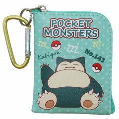 Japan Pokemon Mini Pouch Key Bag with Hook - Snorlax