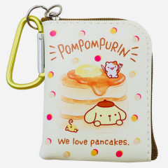 Japan Sanrio Mini Pouch Key Bag with Hook - Pompompurin