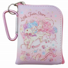 Japan Sanrio Mini Pouch Key Bag with Hook - Little Twin Stars