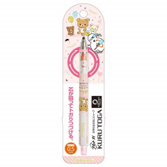 Japan San-X × Uni Kuru Toga Auto Lead Rotation 0.5mm Mechanical Pencil - Rilakkuma Light Pink
