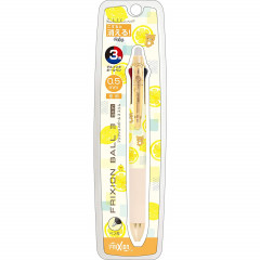 Japan San-X Rilakkuma × Pilot FriXion Erasable 0.5mm 3-Color Multi Gel Pen - Light Yellow