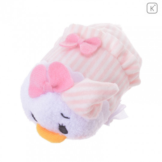 Japan Disney Tsum Tsum Mini Plush - Daisy Duck Kafun Face - 5