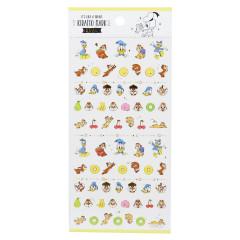 Japan Disney Seal Sticker - Donald Duck & Chip & Dale