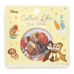 Japan Disney Masking Seal Flake Sticker - Chip & Dale Glitter
