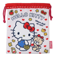 Japan Sanrio Drawstring Bag - Hello Kitty White
