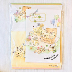 Japan Pokemon Letter Envelope Set - Pikachu number025 Picnic Time